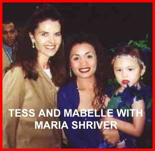 Tess and Mabelle with Maria Schriver
