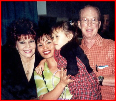 The Davison Family with Filipino Screen Legend Pilita Corales